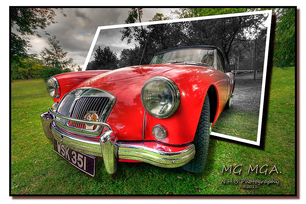 MG MGA by Nigel Butterfield