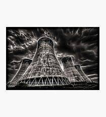 Eggbourgh Power Station, Fractalius. Photographic Print