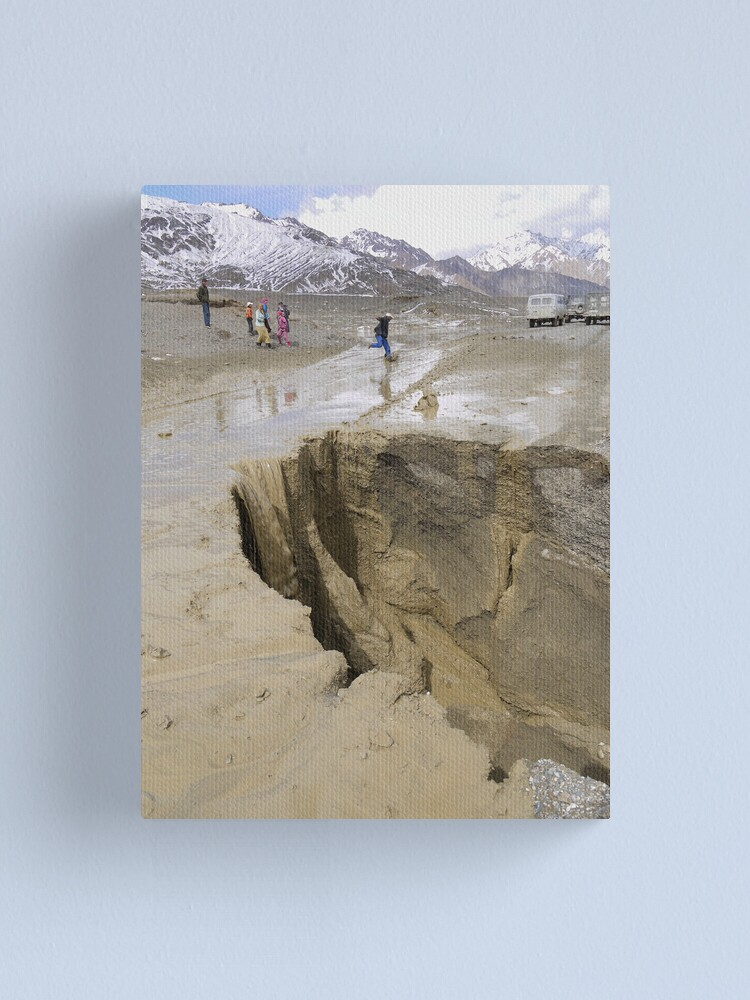 Alternate view of On a nice day along the Murghab Canvas Print