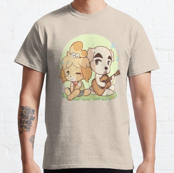 Animal Crossing Isabelle y K.K. Control deslizante Camiseta clásica