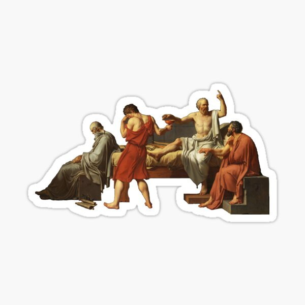 The Death of Socrates  Sticker