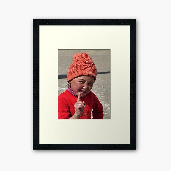 Playacting - you naughty girl, you! Framed Art Print