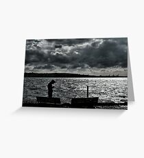 Clouds reaching the sun Greeting Card
