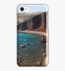 Red Beach Santorini Akrotiri iPhone Case/Skin