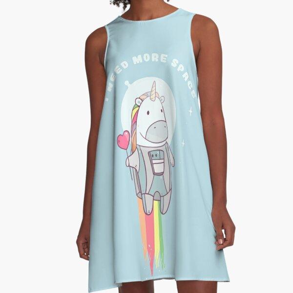 Unicorn Need More Space! A-Line Dress