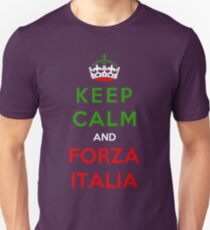 Keep Calm And Forza Italia Unisex T-Shirt
