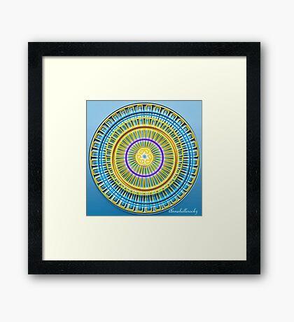 The Blue wheel Framed Print