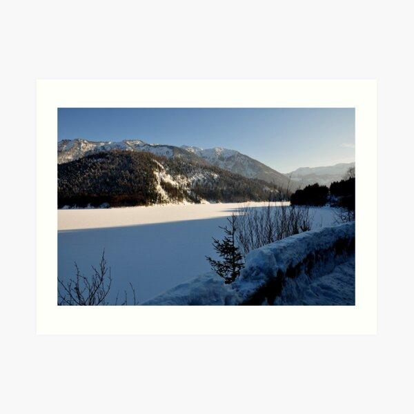 Germany, Frozen Lake Art Print