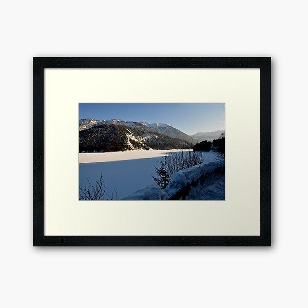 Germany, Frozen Lake Framed Art Print