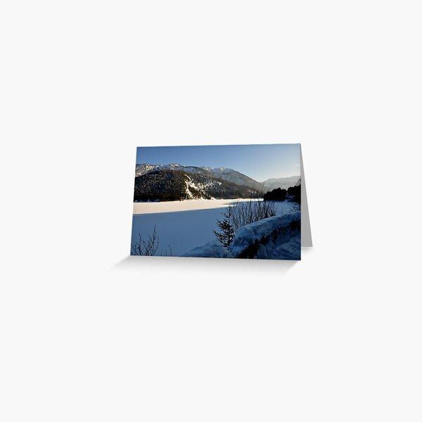 Germany, Frozen Lake Greeting Card