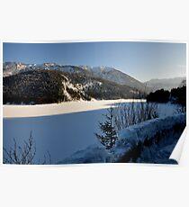 Germany, Frozen Lake Poster