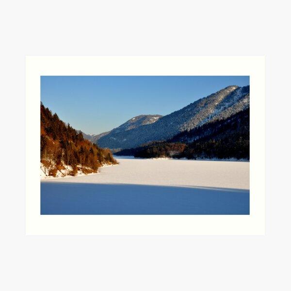 Germany, Frozen Lake 2 Art Print