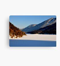 Germany, Frozen Lake 2 Canvas Print