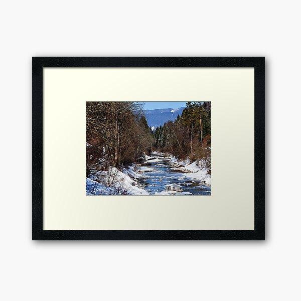 germany, winter brook Framed Art Print