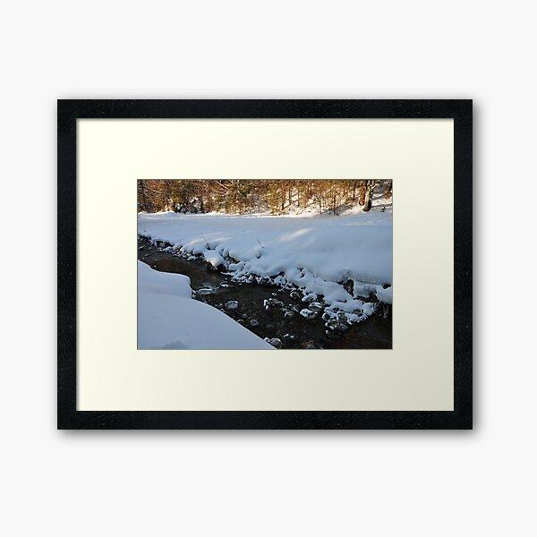 germany, winter brook 2 Framed Art Print