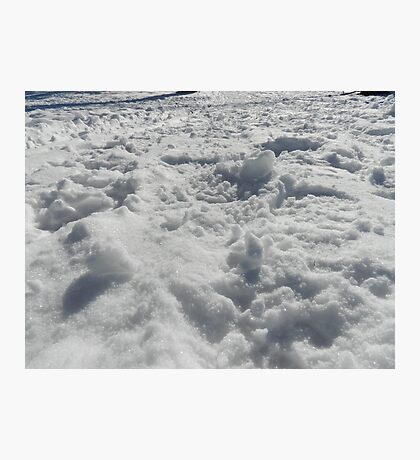 Trampled snow Photographic Print