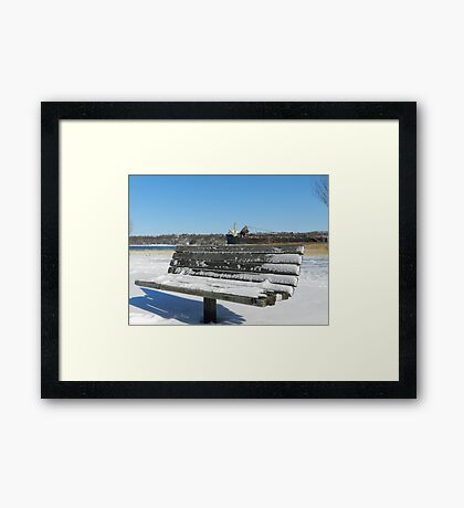 Turning your back to the Harbor Framed Print