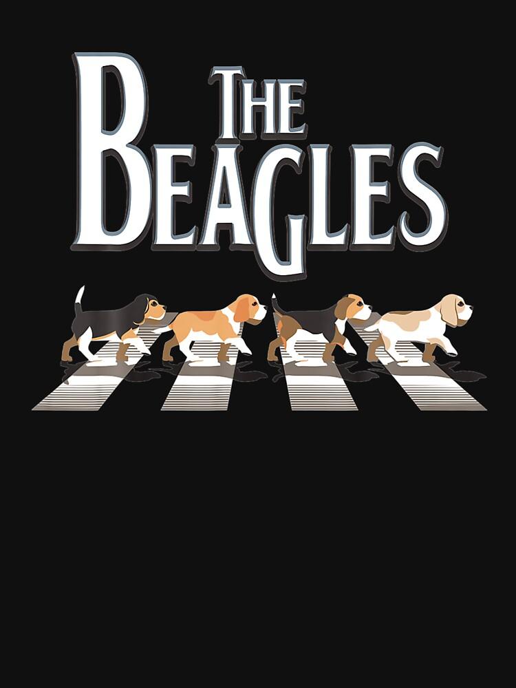 The Beagles Dog Crosswalk Funny  by sokjunvn01