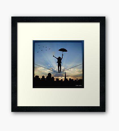 Tightrope Framed Print