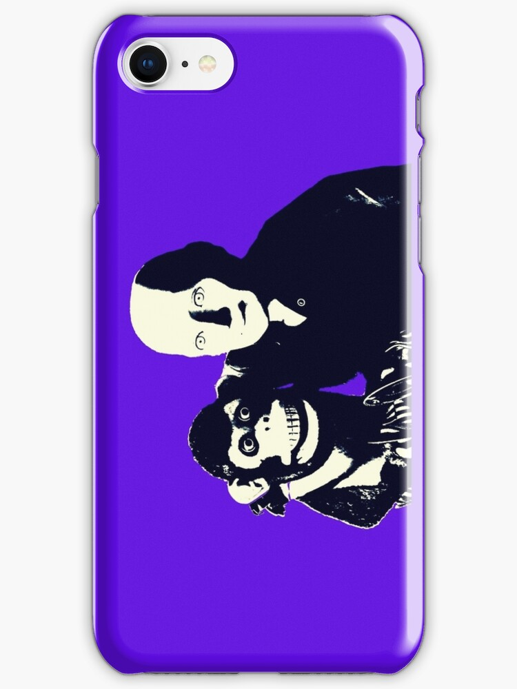 Hugo and Jolly Chimp iPhone by Margaret Bryant