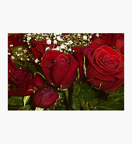 Red Rose Bouquet Photographic Print