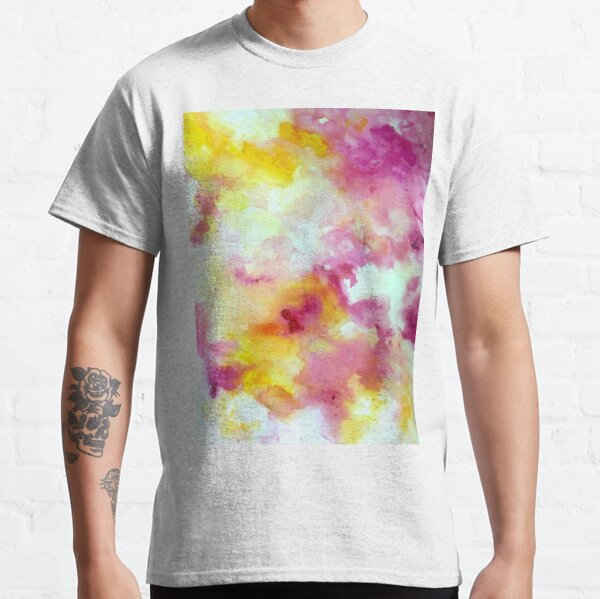 Pink and Yellow Flow V Classic T-Shirt
