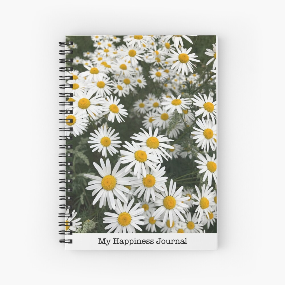 Happiness Journal / Daisies Spiral Notebook