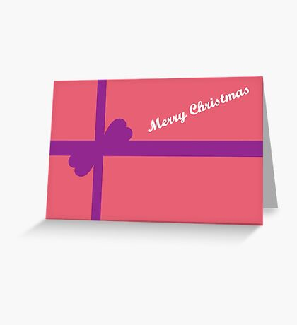 Pink Parcel for Christmas Greeting Card
