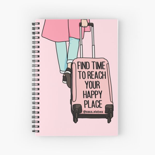 Happy place by Sasa Elebea Spiral Notebook