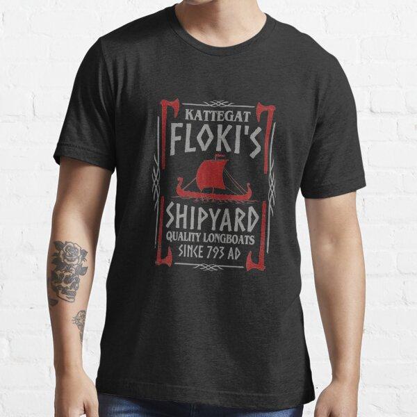 Kattegat Floki's Shipyard Vikings  Essential T-Shirt