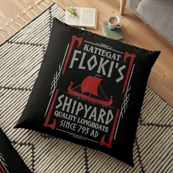 Kattegat Floki's Shipyard Vikings  Floor Pillow