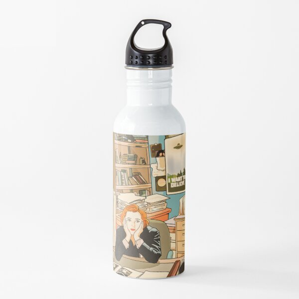The skeptical Dana Scully in the Mulder s office The X Files  Water Bottle