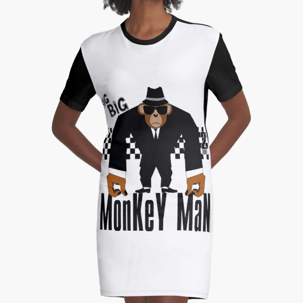 BIG Monkey Mann T-Shirt Kleid