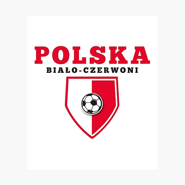 Poslka football Photographic Print
