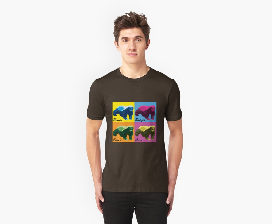 Warhol Style Honey Badger by nettraditions