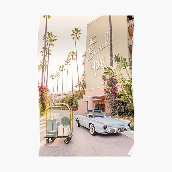 beverly hills vintage vogue aesthetic  Poster