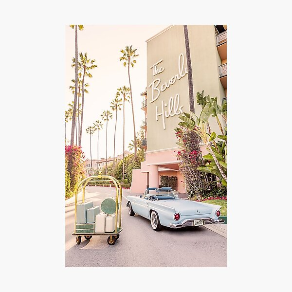 beverly hills vintage vogue aesthetic  Photographic Print