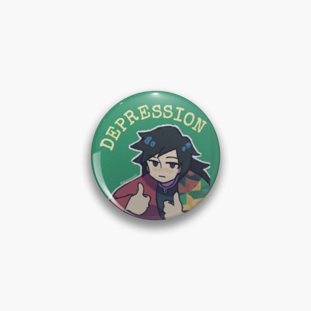 Fight against depression Pin