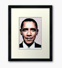 OBAMA is inspiration Framed Print