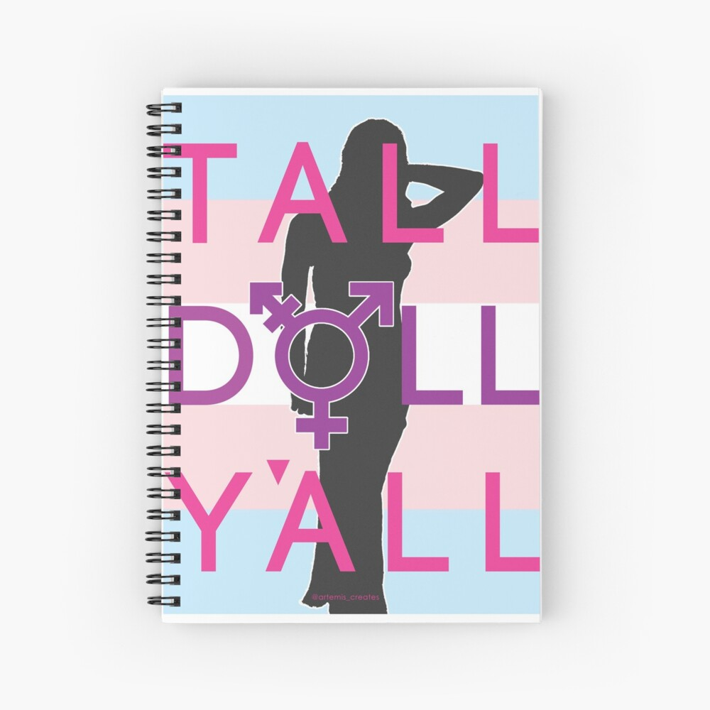 Tall Doll Y'all Spiral Notebook