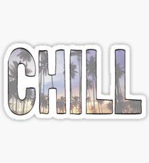 """CHILL"" palm trees tumblr sticker Sticker"