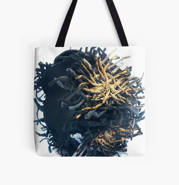 FEELING CONNECTED - entangled and loose threads -  All Over Print Tote Bag