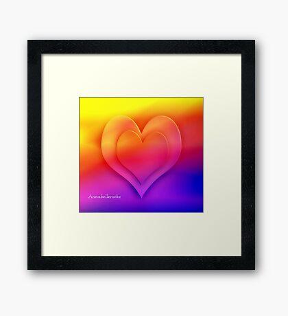 HEART  OF COLOR Framed Print