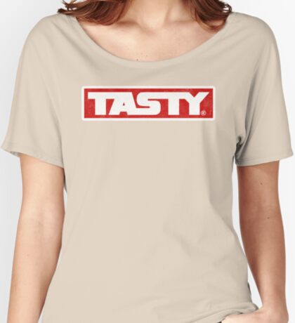 Tasty® Brand  Logo Washed Heavy Women's Relaxed Fit T-Shirt