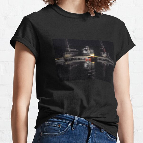 Abstract photography boats at the pier at night Classic T-Shirt