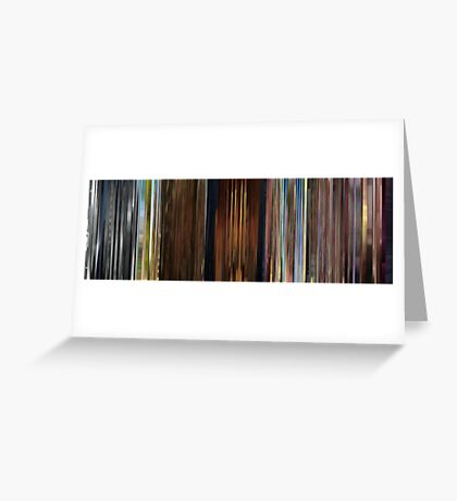 Moviebarcode: Sequence from Up (2009) Greeting Card