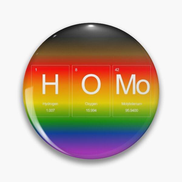 HOMo Rainbow Periodic Table Pin