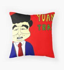 Bianry Options Cartoon Yuan Trade with China Throw Pillow