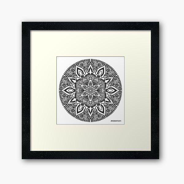 Mandala drawing 10 Prints, Cards & Posters Framed Art Print
