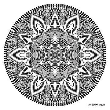 Mandala drawing 10 Prints, Cards & Posters by mandala-jim
